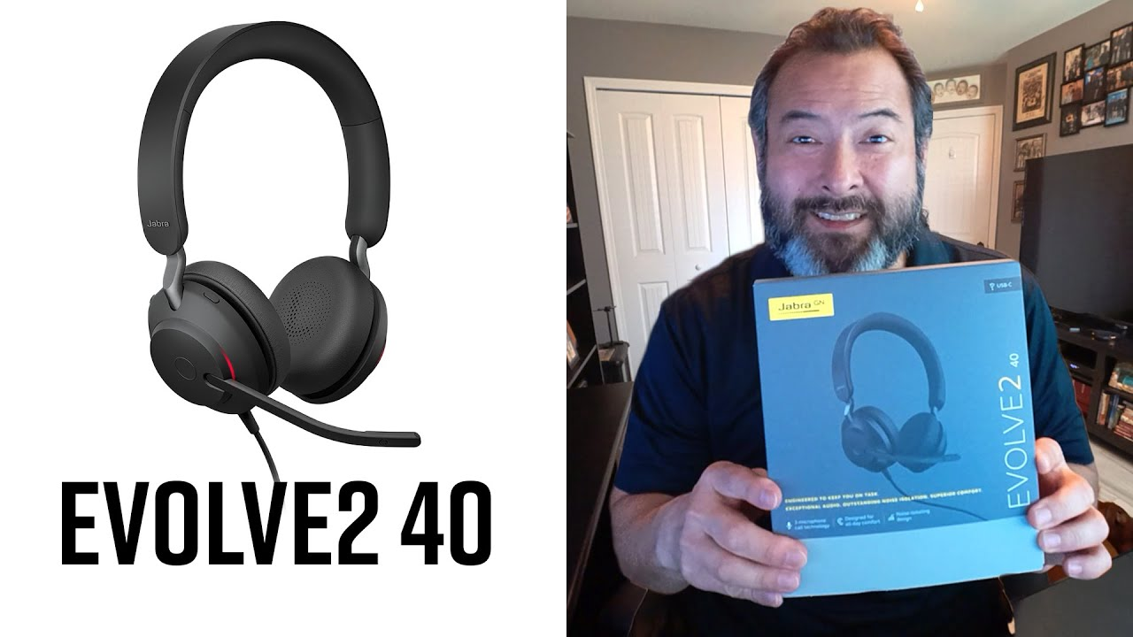 Jabra Evolve2 40 First Look Mic Test Youtube