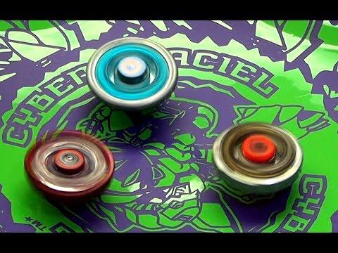 Beyblade Cyber Draciel Battle Series 1 Flame Sagittario vs Cyber Pegasis vs Dark Wolf