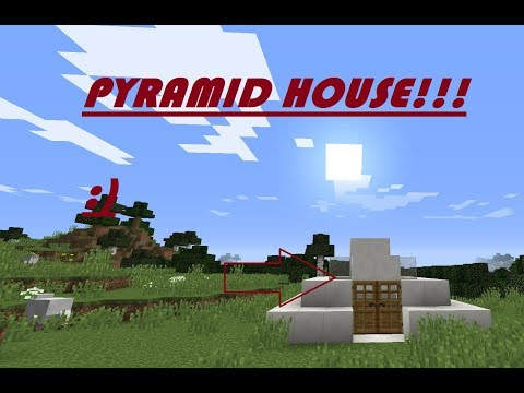 AWESOME PYRAMID HOUSE!!! | Small, modern, and compact!! | Minecraft tutorial