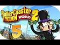 EL TUNEL... #5 | Contenido Extra | ROLLER COASTER TYCOON WORLD español - gameplay | T2