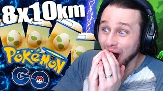 POKEMON GO - 8 x 10km Eggs!! | +Charizard!! [9]