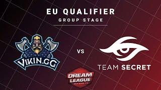Vikin.gg vs Team Secret Game 2 - DreamLeague S13 EU Qualifiers: Group Stage