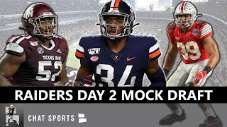 Las Vegas Raiders Round 3 NFL Mock Draft & Top Day 2 Draft Targets