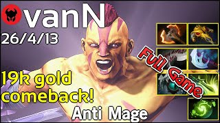 vanN plays Anti Mage!!! Dota 2 Full Game 7.20