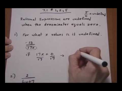 f602aa482 for what values of x is rational expression undefined - YouTube