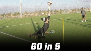 Cutbacks & Reaction Saves | 60 in 5 | Pro Gk