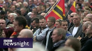 Germany's  asylum policy fuels 'rise' in far right - Newsnight