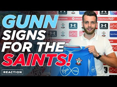 ANGUS GUNN SIGNS FOR SOUTHAMPTON | REACTION