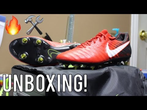 1619872b1 Nike Tiempo Legend 7 Fire Pack Anti Clog SG-Pro - Unboxing - YouTube