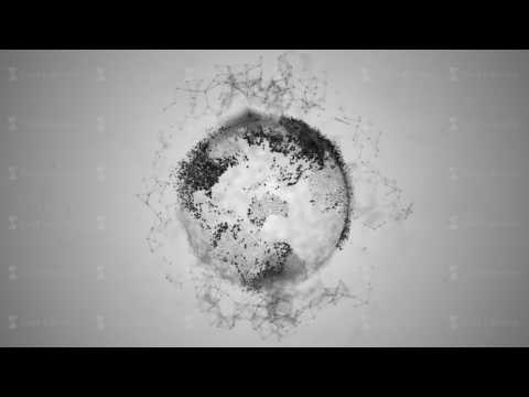3d rendering abstract globe with particles and plexus structure. Digital technology planet with