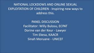 Panel discussion   Sexual exploitation of children online