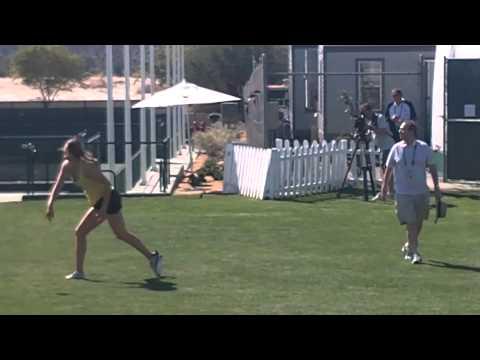 Victoria Azarenka And RedFoo Play Football