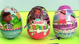 Chocolate Egg Surprises Monster High, Doc  Mcstuffins, Powerpuff Girls