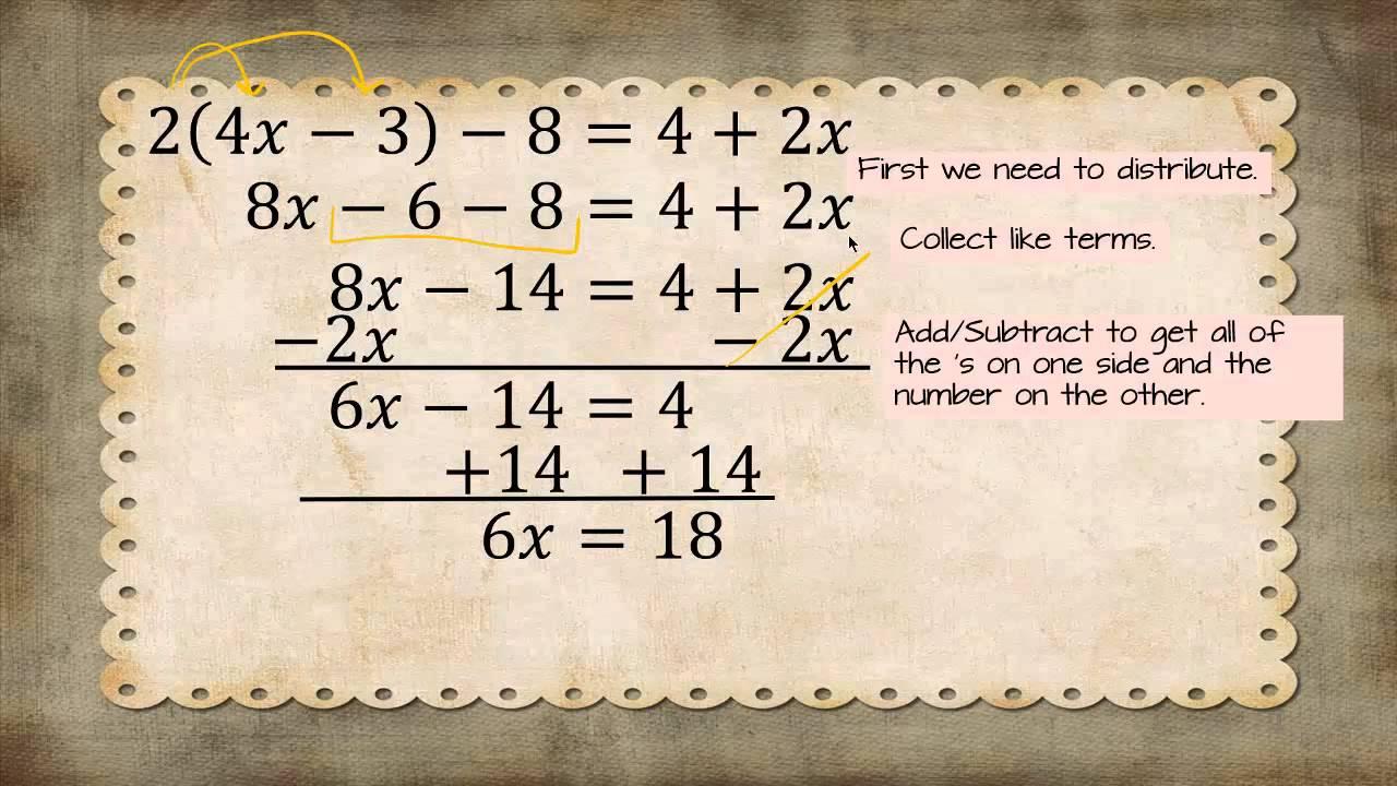 Solve 24x 3 842x Solve My Algebra Equation Youtube