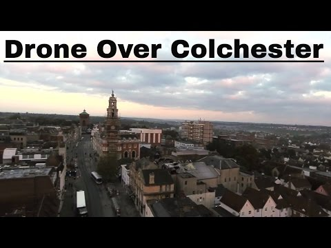 Flying Drone Over Colchester Town , Essex
