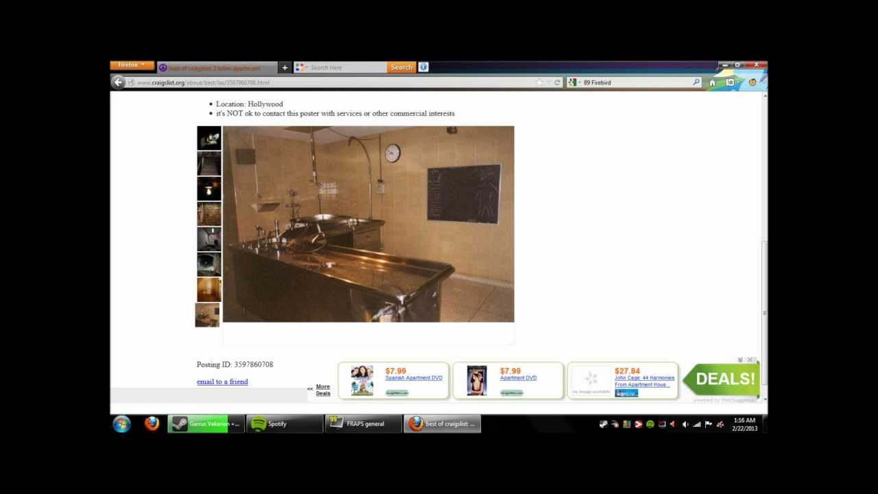 Best of Craigslist: One Bedroom Apartment - YouTube