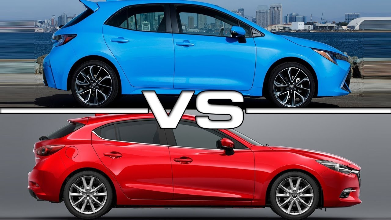 Elegant 2019 Toyota Corolla Hatchback Vs 2018 Mazda 3 Technical Specifications