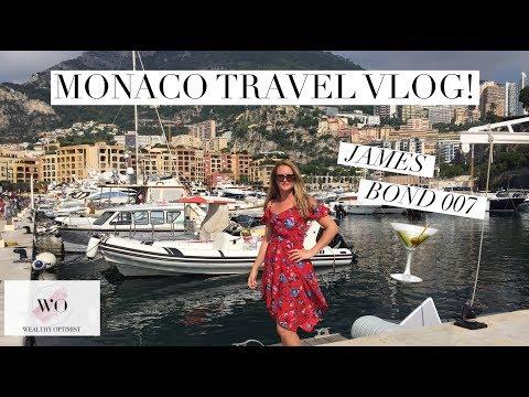Monaco Travel Vlog! James Bond Martini - Monte Carlo!