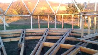 Этапы строительства купольного дома.