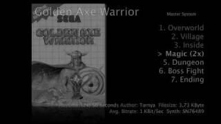 Master System music : GOLDEN AXE WARRIOR (1990)