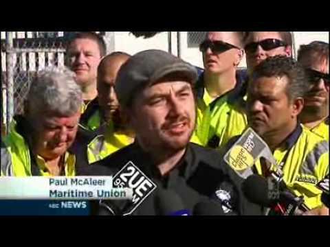 Patrick Risks War On Waterfront As 270 Axed At Botany - ABC NEWS