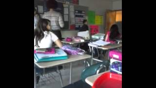 Kid strips in front of the class