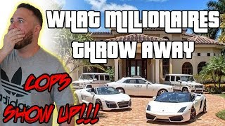 Download COPS CALLED WHILE DUMPSTER DIVING IN MILLIONAIRES RICH NEIGHBORHOODS | OmarGoshTV Mp3 and Videos