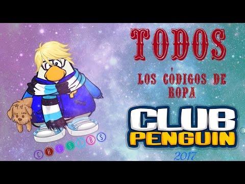 TODOS los códigos de ropa de Club Penguin