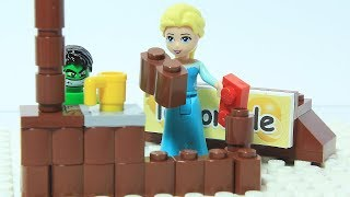 ELSA Frozen LEGO Brick Building Lemonade Stand