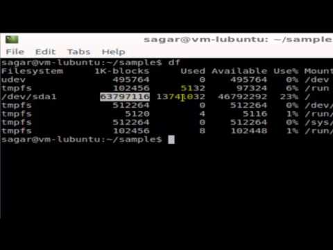 How to check disk space in Unix