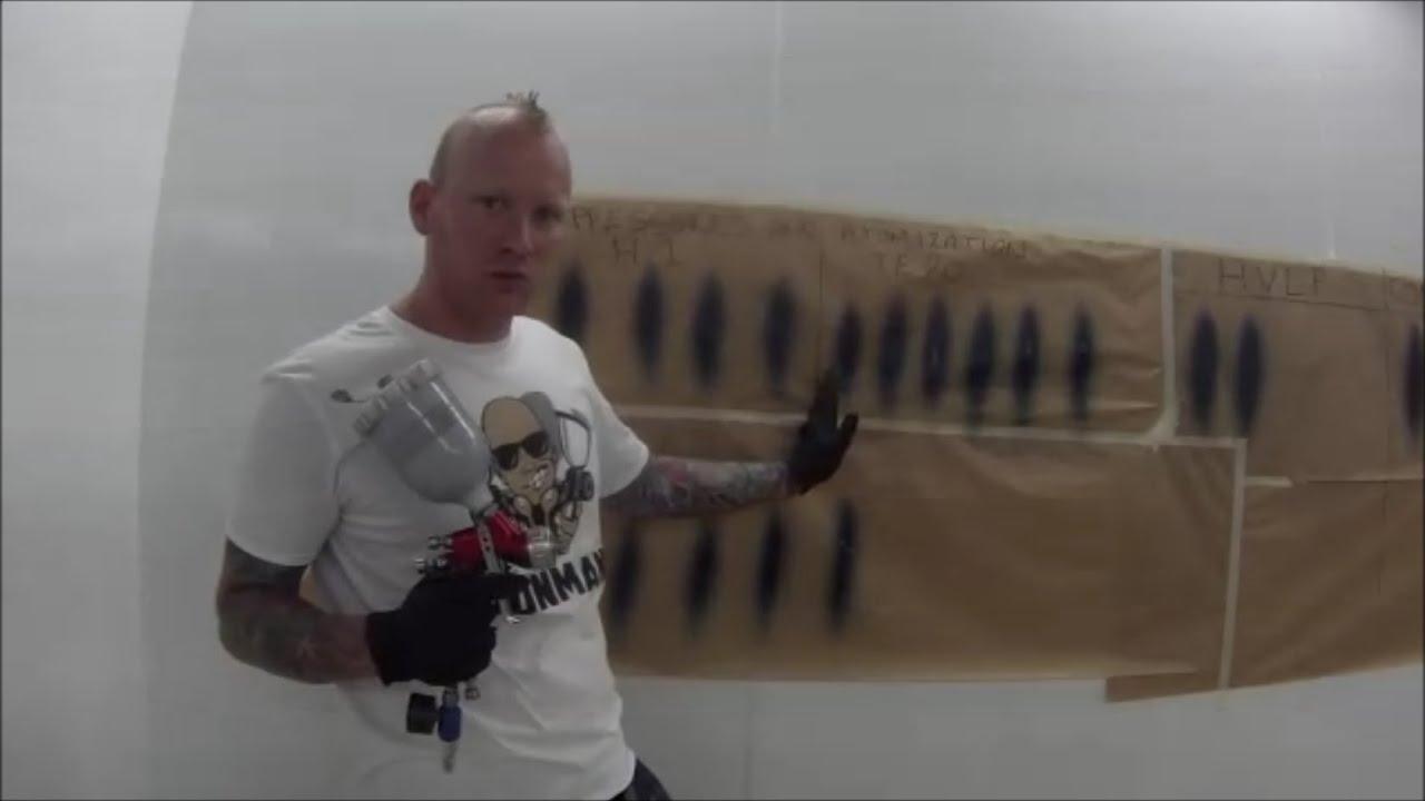 Devilbiss Air Cap Spray Demo Youtube