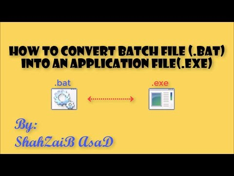 How to convert a batch file (.bat) into application file (.exe)