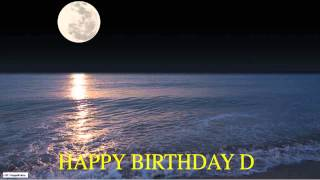 D  Moon La Luna - Happy Birthday