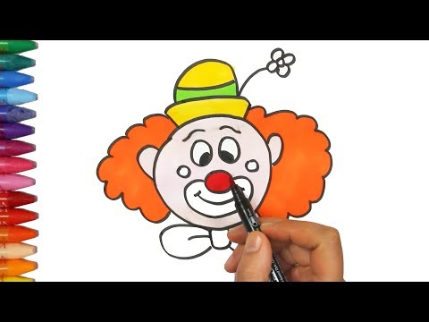 Как рисовать клоуна | Как рисовать и цвет