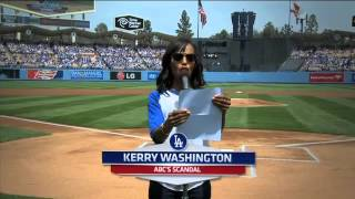 Kerry Washington Announcing the Dodgers' Lineup