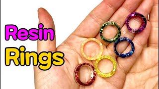 UV레진 레인보우 반지 만들기! _ UV resin Rainbow Rings DIY.