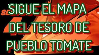 *FORTNITE MISSION* FOLLOW THE TREASURE MAP OF THE TOMATO PEOPLE. ! HOW TO GET IT!