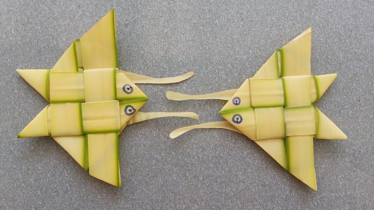 Cách làm con bướm ( con ruồi) bằng lá dừa đơn giản đẹp