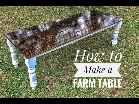 How to Make a Farm Table