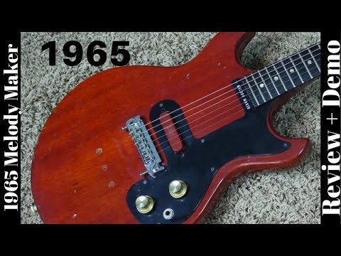1965 Gibson Melody Maker D Red with Seymour Duncan Red Stack Pickup   Review + Demo