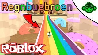 Runs on a rainbow in CandyLand Obby! (English Roblox)