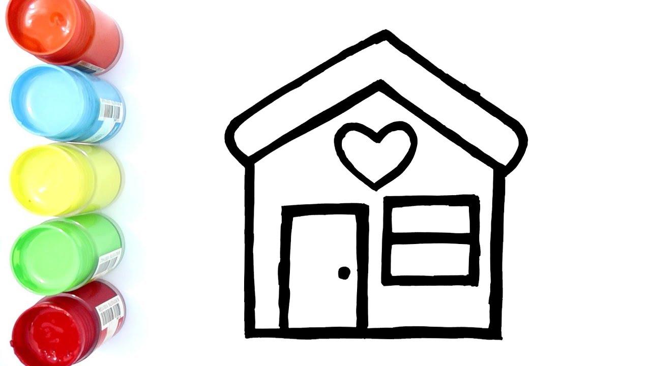 Cara Menggambar Dan Mewarnai Rumah Mewah Youtube