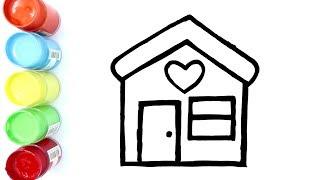 Cara Menggambar dan Mewarnai Rumah Rumahan