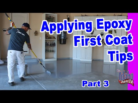Applying Epoxy The First Coat Epoxy Floor Application