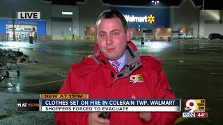 Someone set pants, clothing on fire at Colerain Walmart, police say