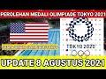 JUARA OLIMPIADE TOKYO 2021,! UPDATE PEROLEHAN MEDALI OLIMPIADE TOKYO 2021,! KLASEMEN AKHIR OLIMPIADE