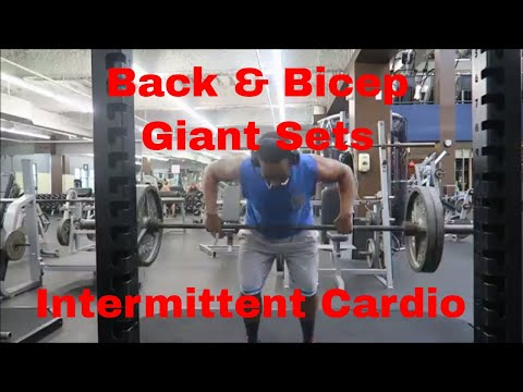 Back Giant Sets | Bicep Giant Sets | Intermittent Cardio | Put In The Work