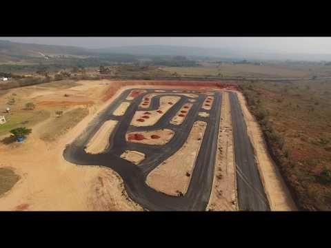 Filmagem feita com drone na Construção do Brasília Kart