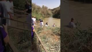 Река Иордан, место где крестили Иисуса.