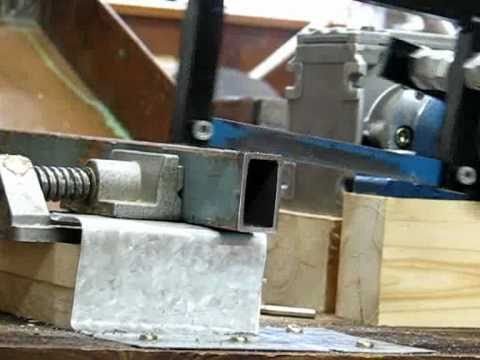 Homemade Power Hacksaw - YouTube